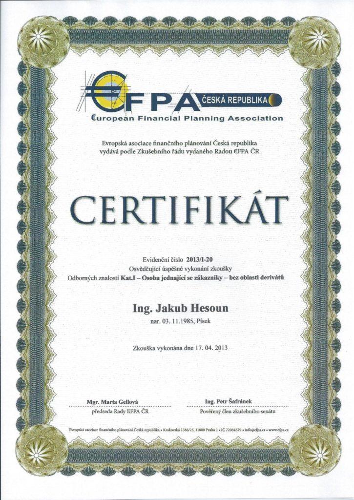 Udělila: EFPA